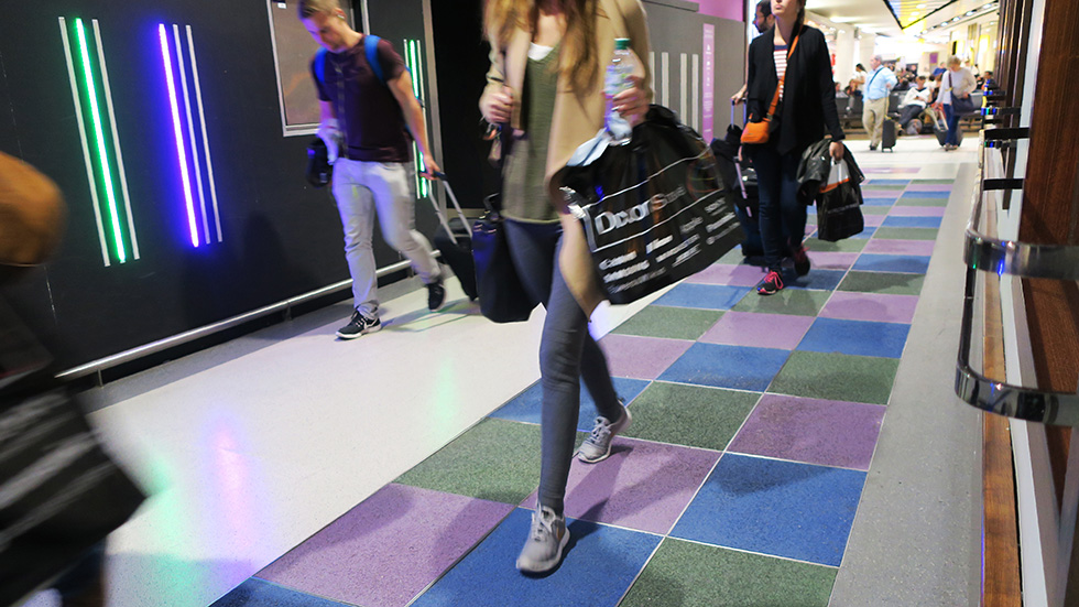 Pavegen: Energy generating tiles at Heathrow